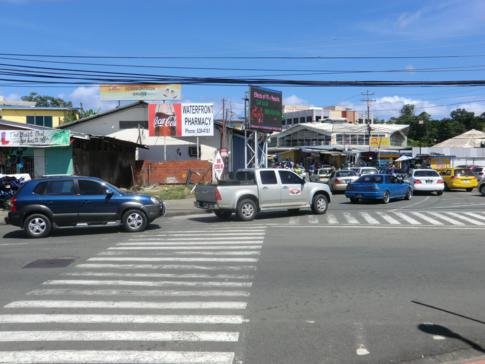 Die Innenstadt von Scarborough, der Hauptstadt von Tobago