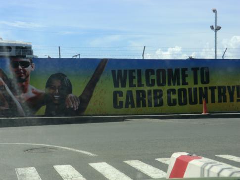 Carib-Werbung im Herzen von Scarborough