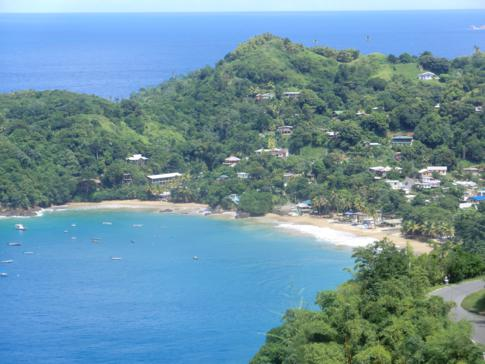Die Castara Bay an der Nordwestküste von Tobago