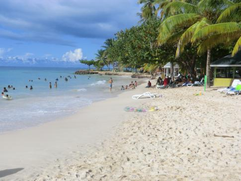Pigeon Point, der bekannteste Strand in Tobago