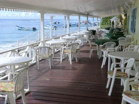 Das Restaurant im Conrado Beach Hotel auf Tobago