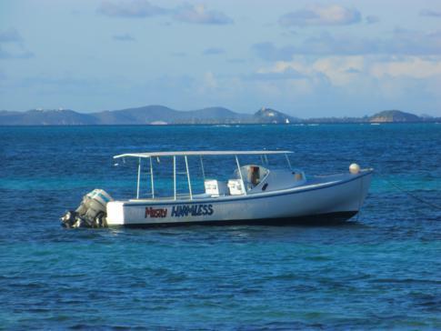 Das Boot für die Tobago Cays, die Mostly Harmless