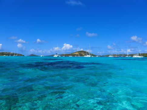 Anfahrt auf die Tobago Cays