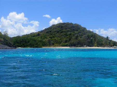 Petit Bateau, eine weitere Insel der Tobago Cays in den Grenadinen