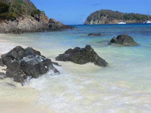 Die Insel Petit Bateau, Teil der Tobago Cays und der Grenadinen