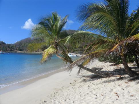 Die Saltwhistle Bay in Mayreau