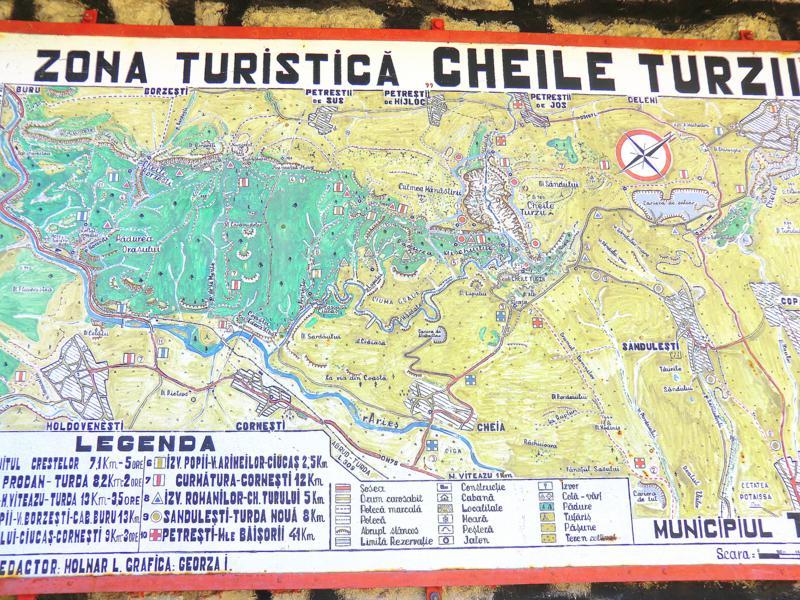 Die Karten von Cheile Turzii, der Thorenburger Schlucht