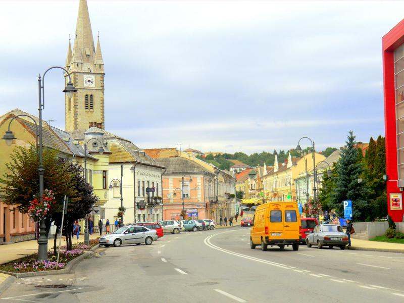 Die Kleinstadt Turda in Transsilvanien