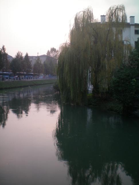 Entspannender Blick auf den Fluss von Treviso