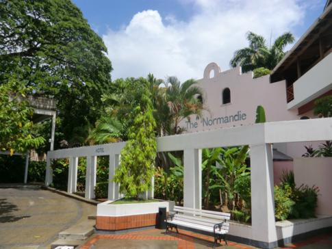 Der historische Stil des Normandie Hotel in Port of Spain