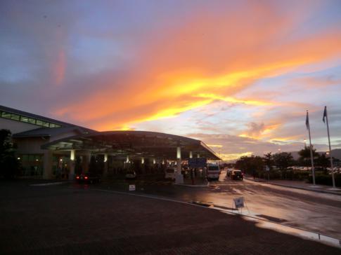 Fantastischer Sonnenuntergang als Abschluss des Wochenendes in Trinidad