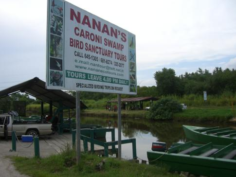 Der Eingang zum Caroni Bird Sanctuary
