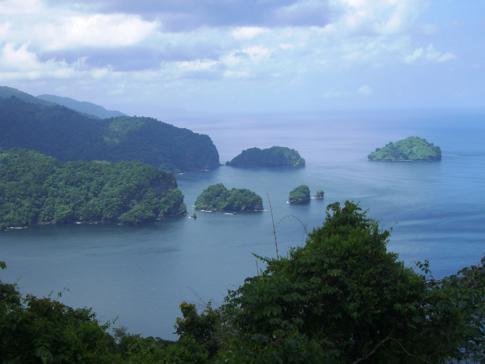 Blick vom Maracas View Point auf die Nordküste von Trinidad