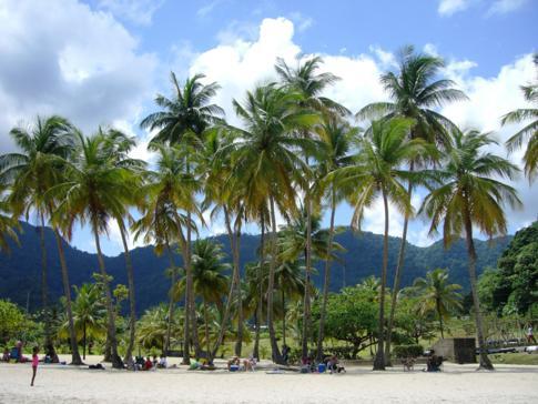 Die Maracas Bay an der Nordküste von Trinidad