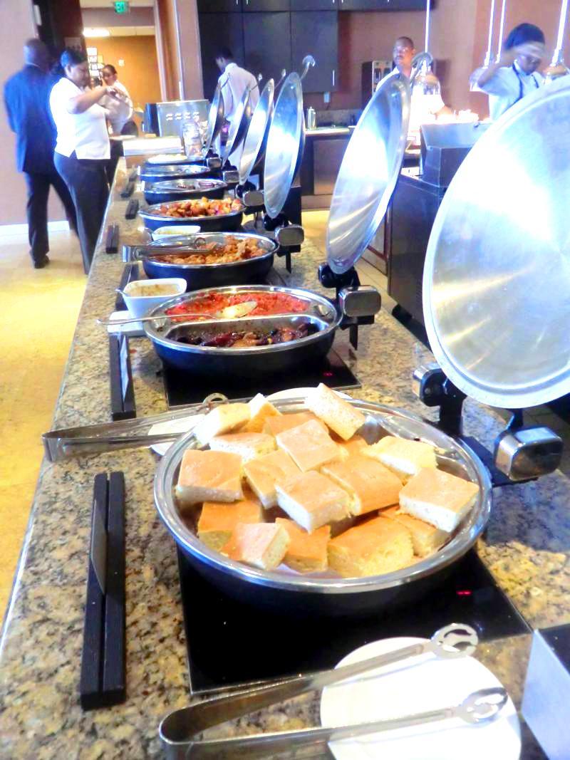 Frühstücksbuffet im Hyatt Regency Port of Spain in Trinidad