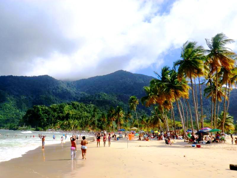 Traumstrand in Trinidad: die Maracas Bay