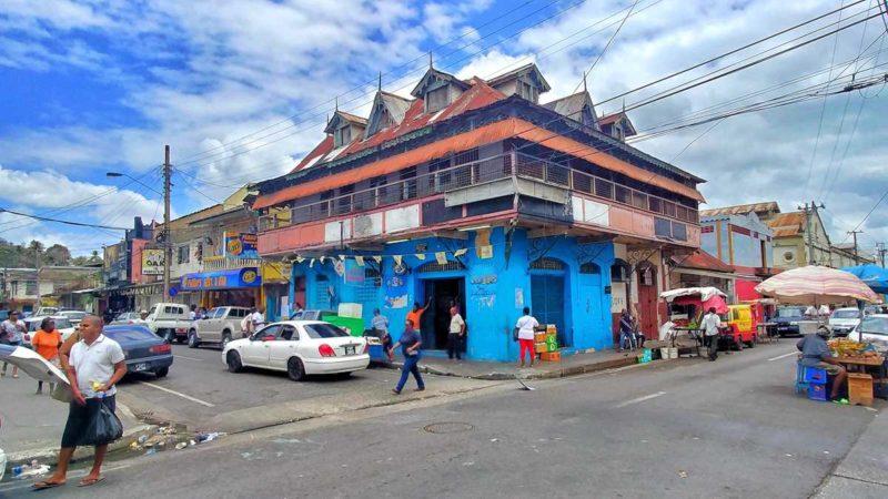 Blick auf das Leben in der Hauptstadt Port-of-Spain