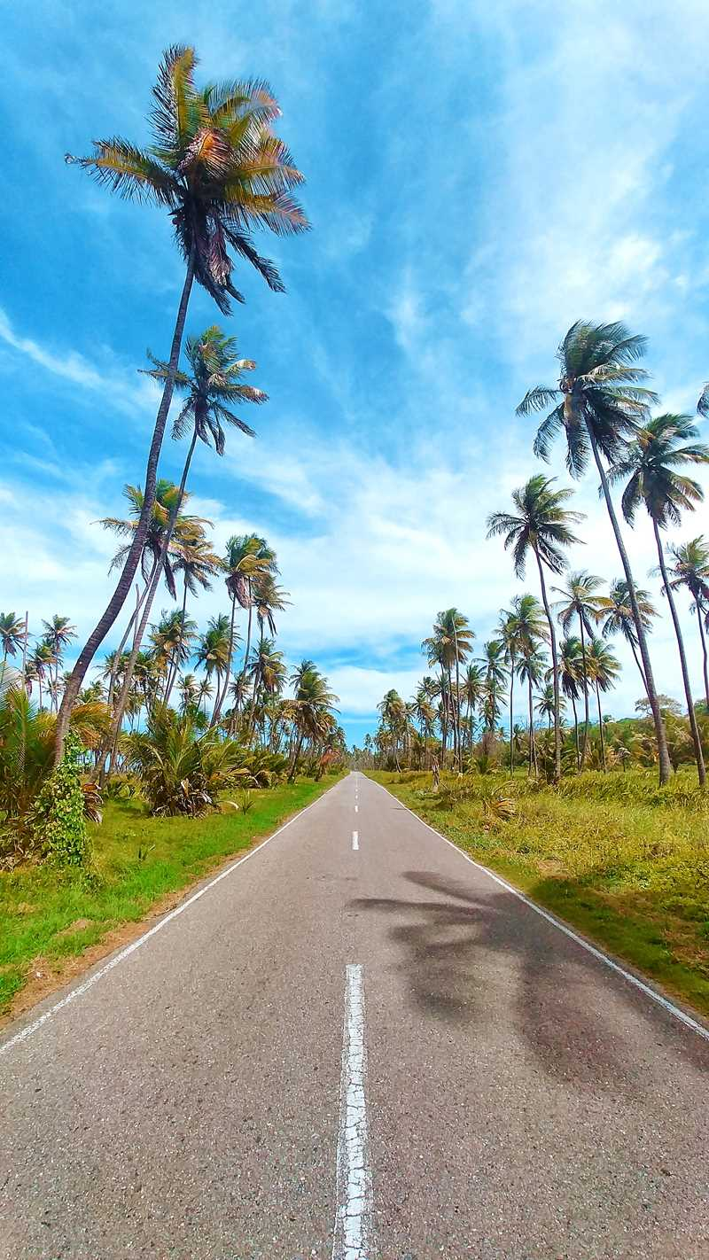 Der wunderschöne Manzanilla Beach im Osten von Trinidad - nicht zum Baden, aber zum Fotografieren