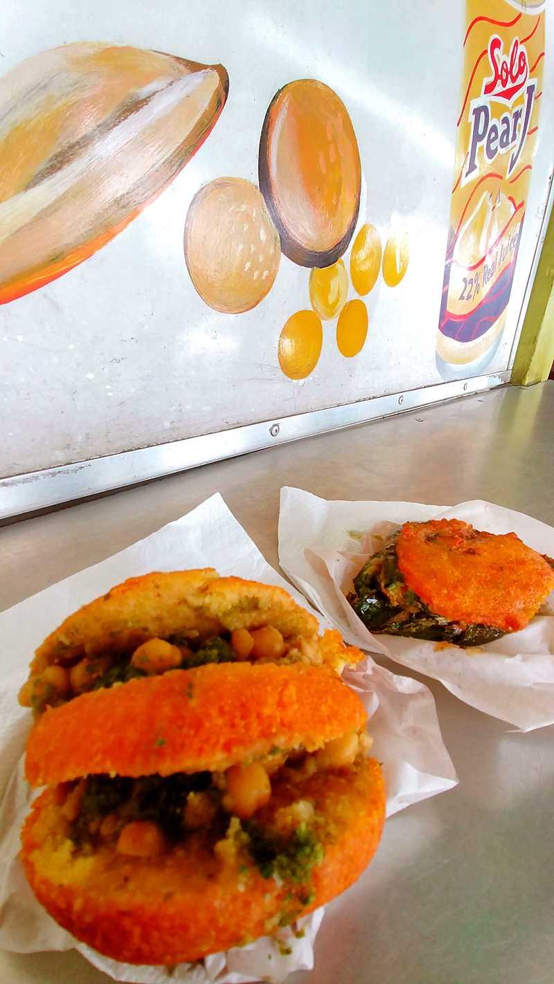 Typisches Trini Street Food im Süden von Trinidad