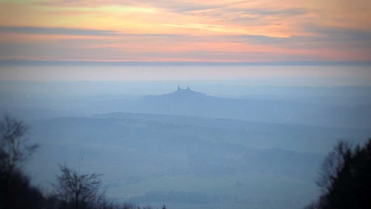 Ausblick vom Kozakov im Böhmischen Paradies in der Tschechischen Republik