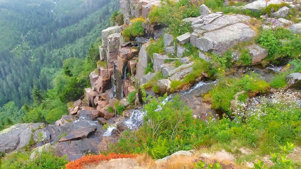 Der Panschefall im Riesengebirge der Tschechischen Republik