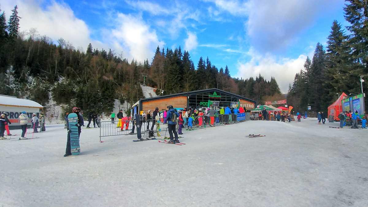 Der Urlaubsort Spindlermühle im Riesengebirge der Tschechischen Republik