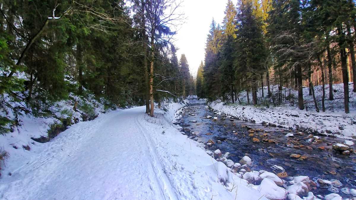 Wanderung durch das Elbtal im Riesengebirge der Tschechischen Republik