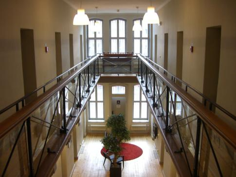 Ein Blick in das Innere des Hotell Gamla Fängelset, ein Hostel in einem ehemaligen Gefängnis