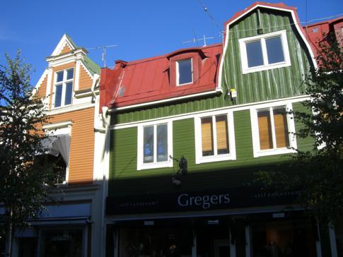 Interessante Häuserfassden in Umea