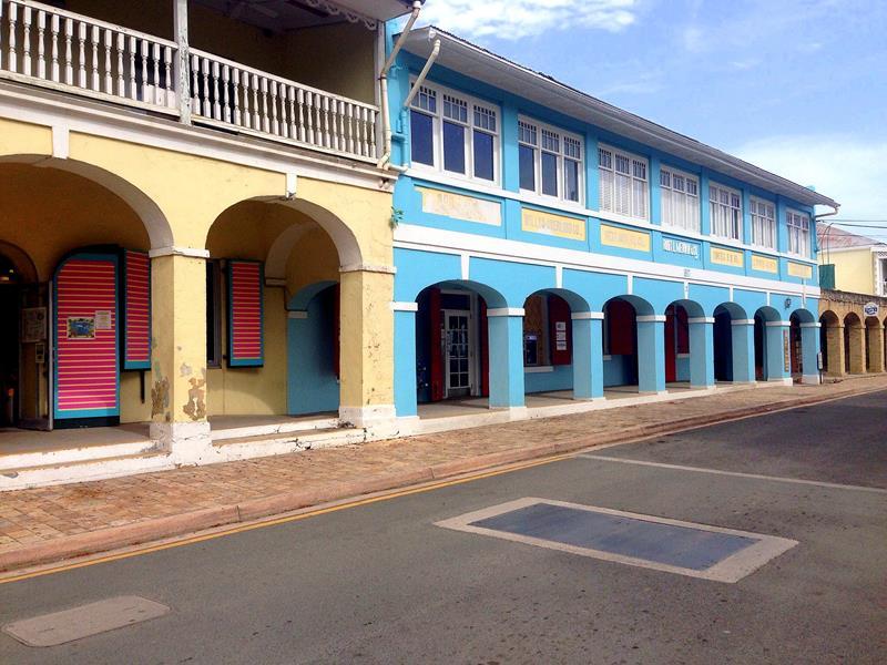 Das kleine Städtchen Frederiksted an der Westküste der Insel
