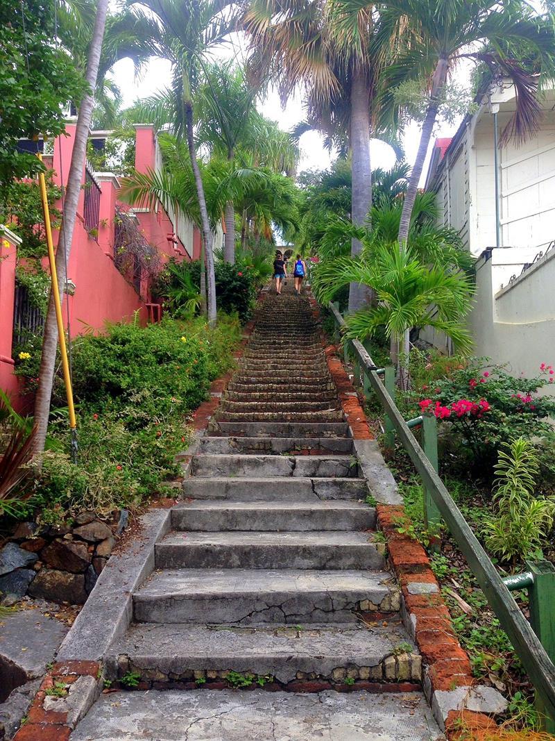 99 Steps, eine der Hauptattraktionen in Charlotte Amalie