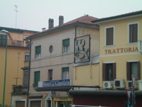 Außenansicht des Hotel alla Giustizia