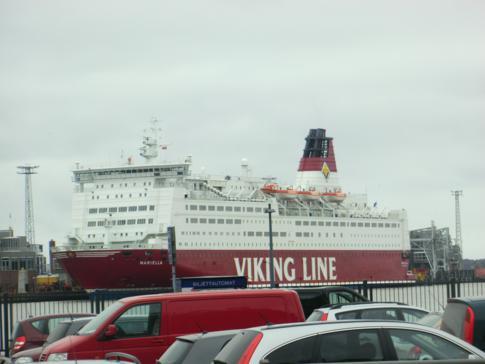 Die MS Mariella von Viking Line in Stockholm
