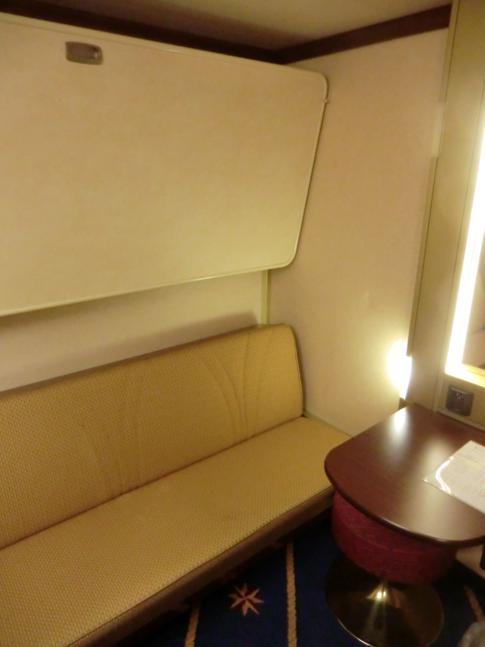 Eine Innenkabine auf der MS Mariella auf dem Weg nach Helsinki