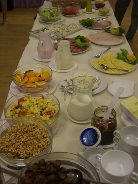 Das umfangreiche Frühstück im Ecotel Vilnius