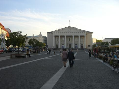 Der Rathausplatz von Vilnius