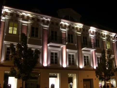Die Altstadt von Vilnius bei Nacht