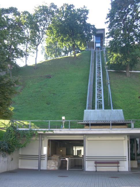 Die Bergbahn hinauf auf den Gediminas-Hügel