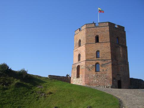 Die kleine Festung auf dem Gediminas-Hügel
