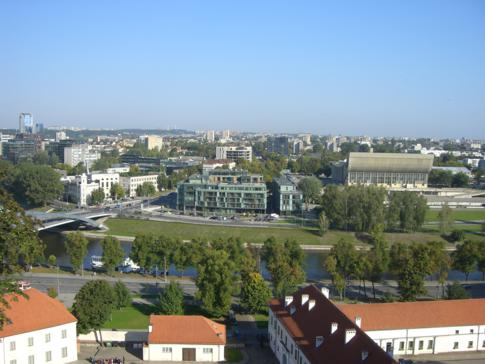 Blick vom Gediminas-Hügel auf Vilnius