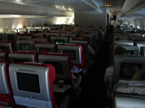 Die Economy Class bei Virgin Atlantic in der Boeing 747-400