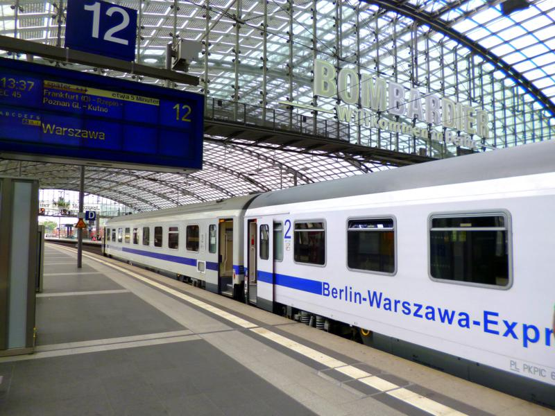 Start zur Weltreise mit dem Berlin-Warschau-Express