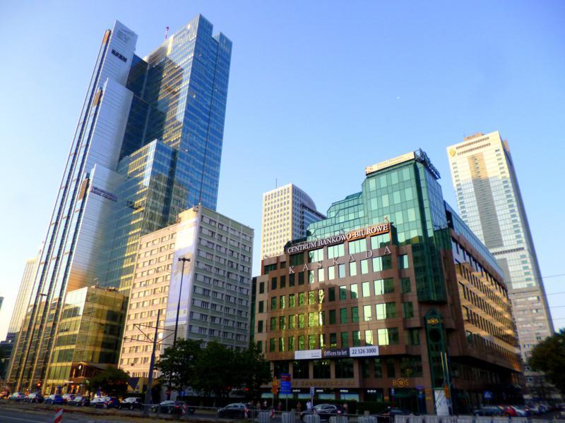 Imposante und überraschende Skyline in Warschau