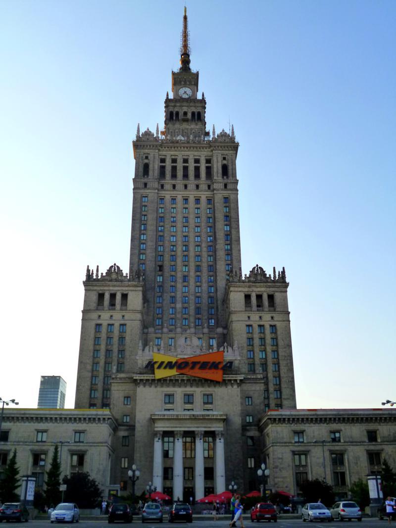 Das höchste Gebäude von Warschau: der Kulturpalast
