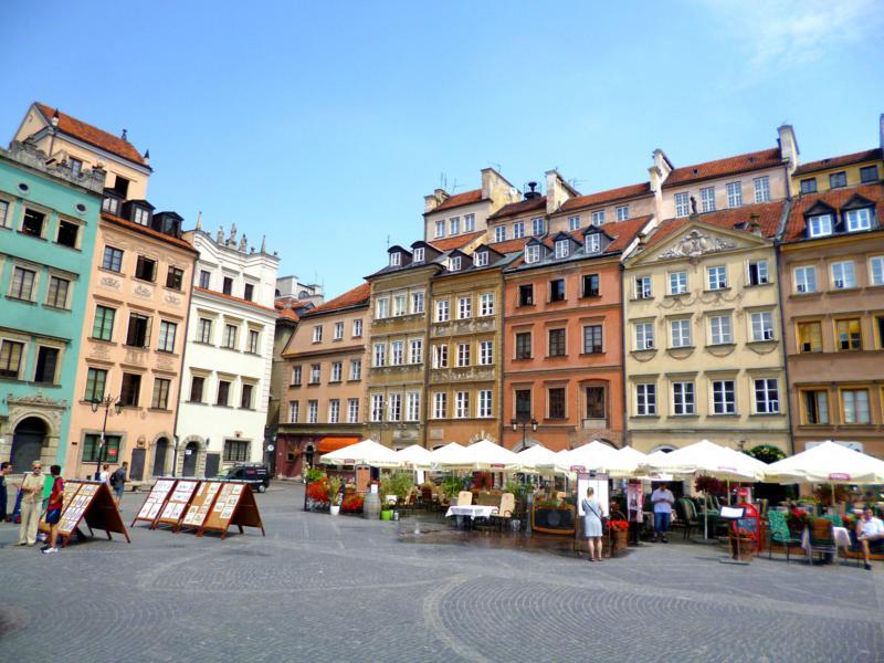 Die historische Altstadt von Warschau, zugleich auch Unesco-Weltkulturerbe
