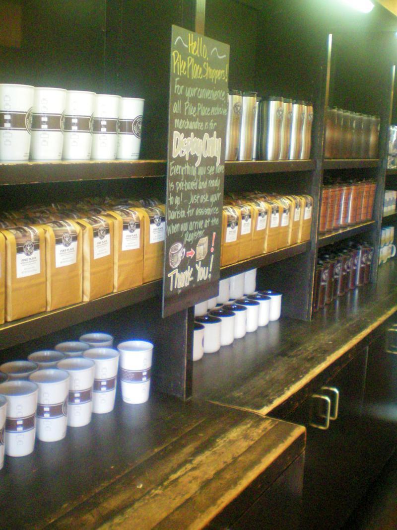 Das erste Starbucks der Welt, eröffnet in Seattle in den USA