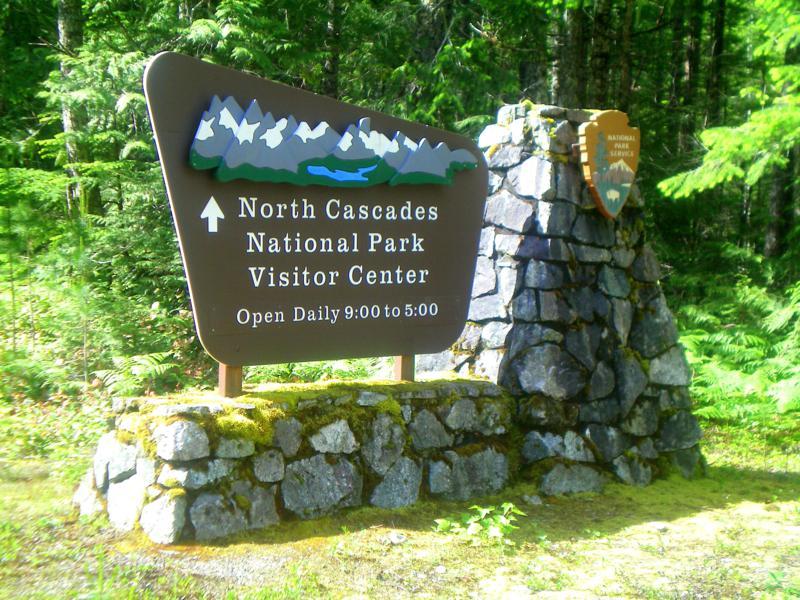 Der Eingang in den North Cascades National Park in Washington State