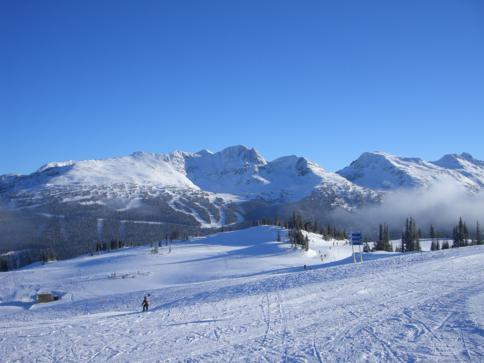 Das Skigebiet Whistler-Blackcomb nördlich von Vancouver