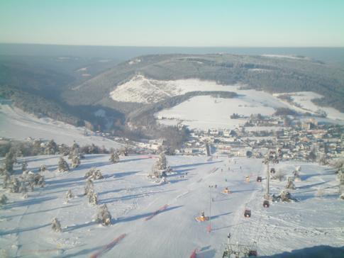 Ausblick vom Hochheideturm auf dem Ettelsberg im Skigebiet Willingen