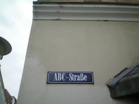 Die ABC-Straße - kreative Namensgebung in Wismar